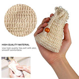 Natural Sisal Soap Bag 4 Pcs and Gentle Weave Bath Cloth for Women and Men 1 Pc