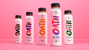 OATH Organic Cardamom Rose Oat Milk with Almond + Pumpkin Seed Protein