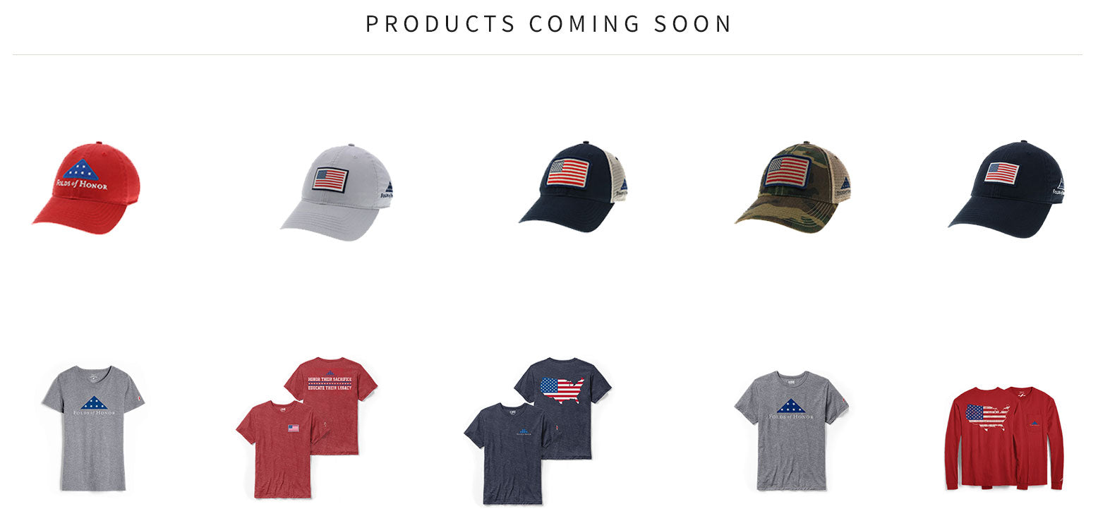 Folds of Honor merchandise coming soon!