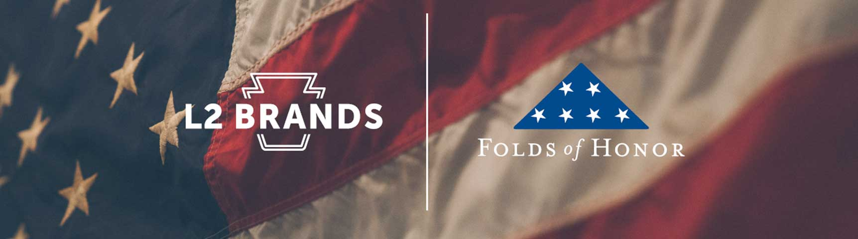 Folds of Honor and L2 Brands Collaboration Header