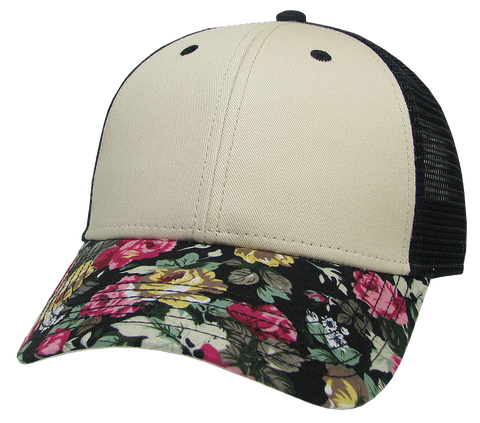 LPS Lo-Pro Snapback Floral Trucker Hat