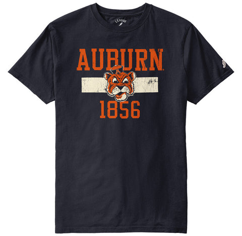 Auburn Tigers College Vault Men's Navy All American Short Sleeve Tee