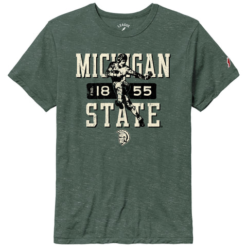 Michigan State Spartans College Vault Men's Heather Hunter Victory Falls Short Sleeve Tee