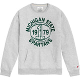 Michigan State Spartans College Vault Men's Ash Grey 1636 Pocket Crew Sweatshirt