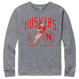 Nebraska Cornhuskers College Vault Men's Heather Grey Victory Falls Long Sleeve Tee