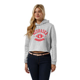 Nebraska Cornhuskers College Vault Women's Ash Grey 1636 Cropped Sweatshirt