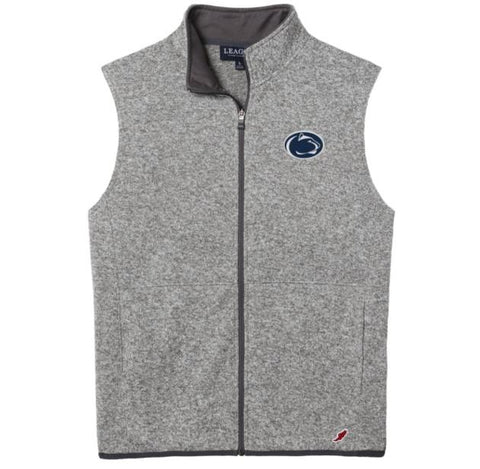 Penn State Nittany Lions Men's Heather Grey Saranac Full Zip Vest