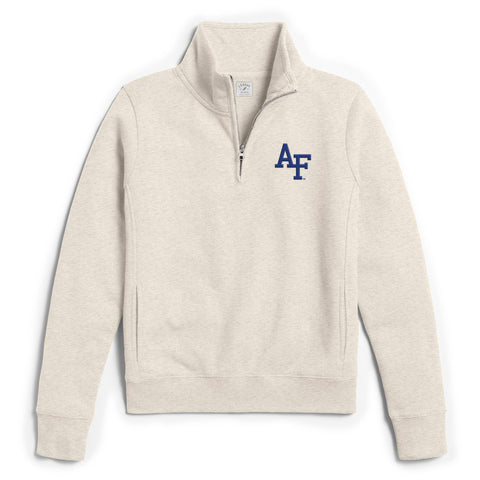 Air Force Falcons Women's Oatmeal Academy 1/4 Zip Sweatshirt