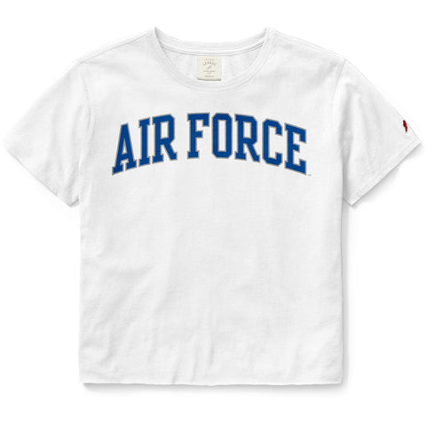 Air Force Falcons Women's White Clothesline Cotton Crop Tee