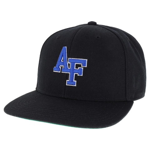 Air Force Falcons Black High Pro Flat Brim Adjustable Hat