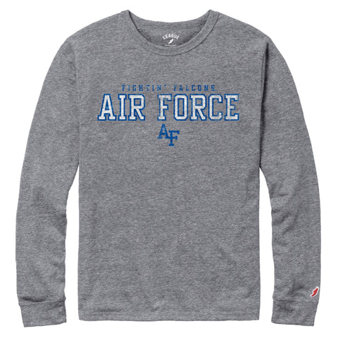 Air Force Falcons Men's Heather Grey Victory Falls Long Sleeve Tee