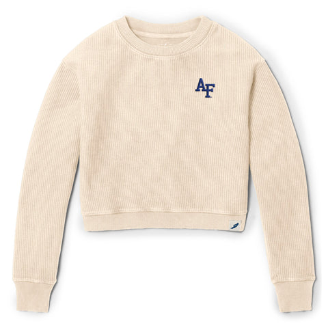 Air Force Falcons Women's Vanilla Timber Crop Crew