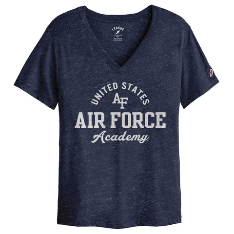 Air Force Falcons Women's Heather Royal Blue Intramural Boyfriend V Tee