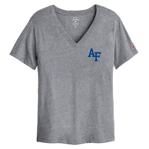 Air Force Falcons Women's Heather Grey Intramural Boyfriend V Tee