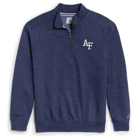 Air Force Falcons Men's Heather Royal Blue Heritage 1/4 Zip Sweatshirt
