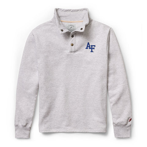 Air Force Falcons Men's Ash Grey 1636 Snap Up Sweatshirt