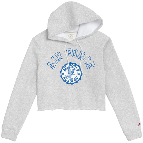 Air Force Falcons Women's Ash Grey 1636 Cropped Sweatshirt