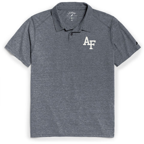 Air Force Falcons Men's Heather Navy Reclaim Polo Tee