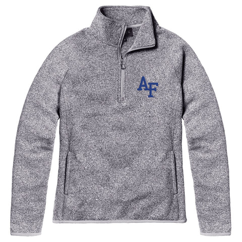 Air Force Falcons Women's Heather Grey Saranac 1/4 Zip Sweater