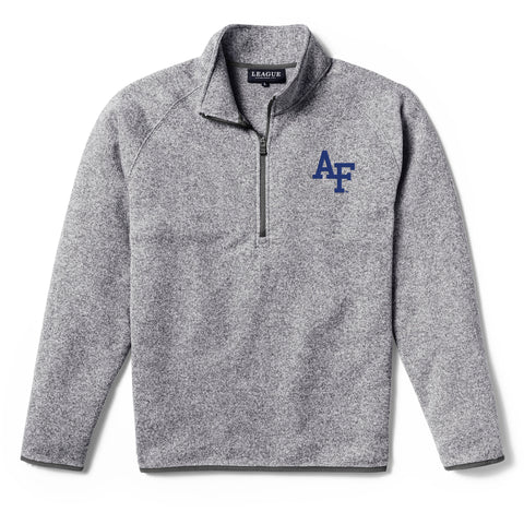 Air Force Falcons Men's Heather Grey Saranac 1/4 Zip Sweater
