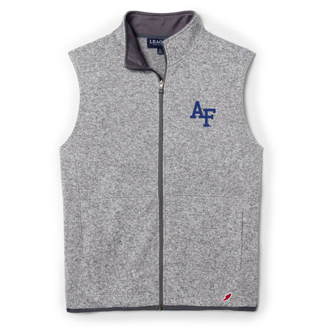 Air Force Falcons Men's Heather Grey Saranac Full Zip Vest