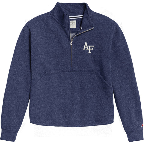 Air Force Falcons Women's Royal Blue Victory Springs Half Zip Pullover