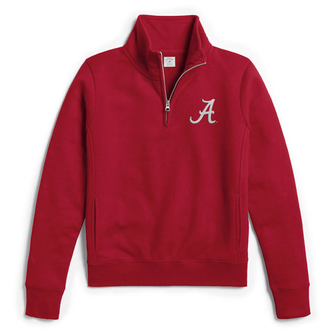 Alabama Crimson Tide  Women's Crimson Academy 1/4 Zip Sweatshirt