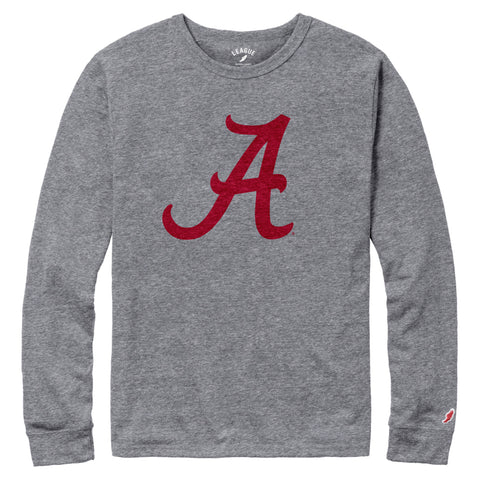 Alabama Crimson Tide Men's Heather Grey Victory Falls Long Sleeve Tee