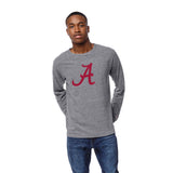 Alabama Crimson Tide Men's Heather Gray Victory Falls Long Sleeve Tee