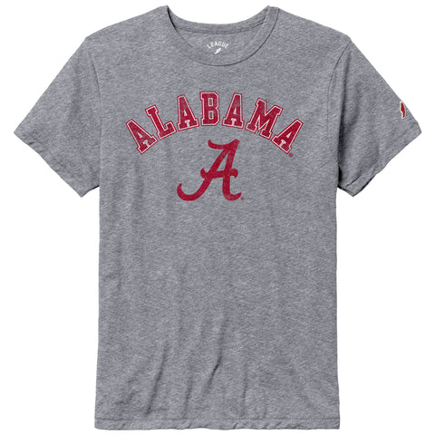 Alabama Crimson Tide Heather Grey Victory Falls Short Sleeve Tee
