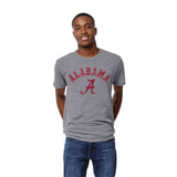 Alabama Crimson Tide Heather Gray Victory Falls Short Sleeve Tee