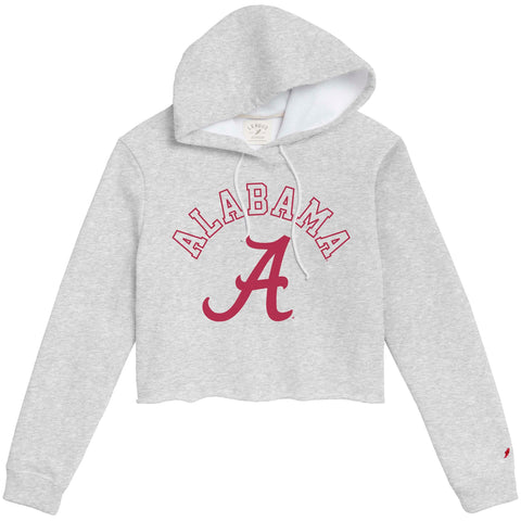Alabama Crimson Tide Women's Ash Grey 1636 Cropped Sweatshirt