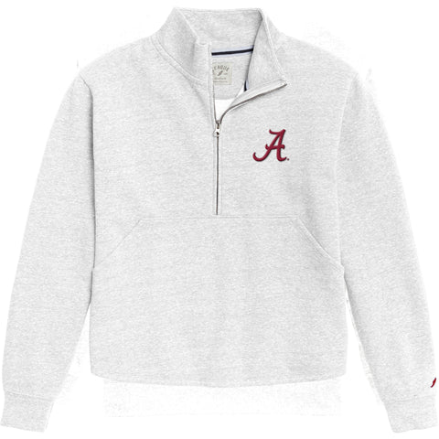Alabama Crimson Tide Women's White Victory Springs Half Zip Pullover