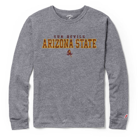Arizona State Sun Devils Men's Heather Grey Victory Falls Long Sleeve Tee