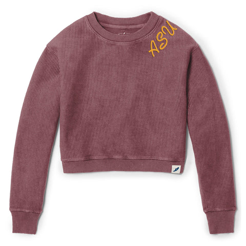Arizona State Sun Devils Women's Maroon Timber Crop Crew