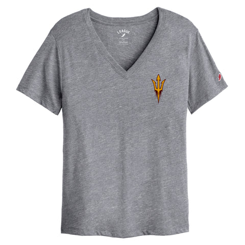 Arizona State Sun Devils Women's Heather Grey Intramural Boyfriend V Tee