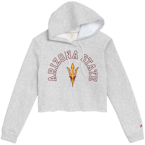 Arizona State Sun Devils Women's Ash Grey 1636 Cropped Sweatshirt