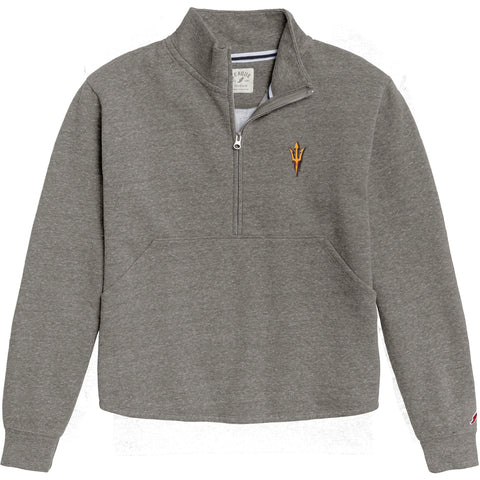 Arizona State Sun Devils Women's Heather Grey Victory Springs Half Zip Pullover