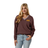 Arizona State Sun Devils Women's Heather Maroon Victory Springs V Crew