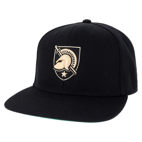 Army Black Knights Black High Pro Flat Brim Adjustable Hat