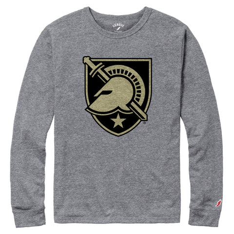 Army Black Knights Men's Heather Grey Victory Falls Long Sleeve Tee
