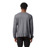 Army Black Knights Men's Heather Gray Victory Falls Long Sleeve Tee