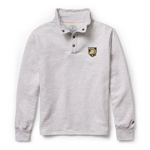 Army Black Knights Men's Ash Grey 1636 Snap Up Sweatshirt
