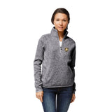 Army Black Knights Women's Heather Grey Saranac 1/4 Zip Sweater