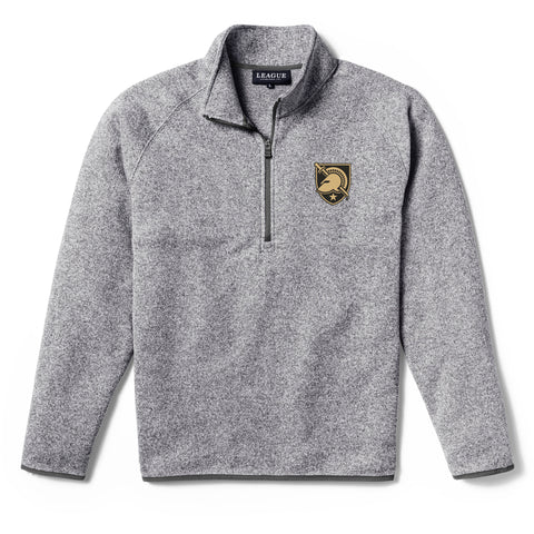 Army Black Knights Men's Heather Grey Saranac 1/4 Zip Sweater