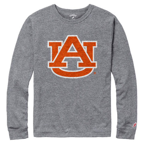 Auburn Tigers Men's Heather Grey Victory Falls Sleeve Tee