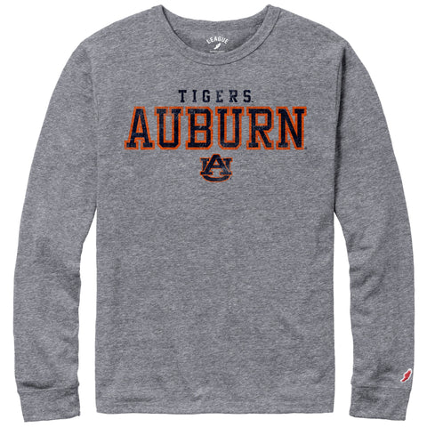 Auburn Tigers Men's Heather Grey Victory Falls Long Sleeve Tee