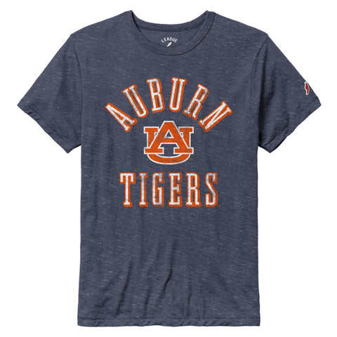Auburn Tigers Heather Navy Victory Falls Short Sleeve Tee