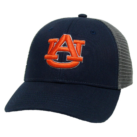 Auburn Tigers Navy/Dark Grey Youth Lo-Pro Structured Snapback Adjustable Trucker Hat