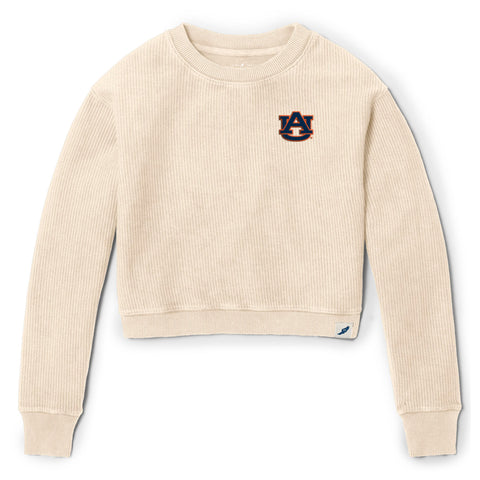 Auburn Tigers Women's Vanilla Timber Crop Crew